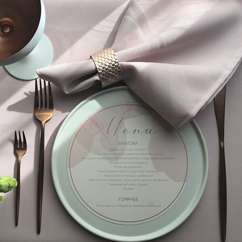 Powder Color Napkin
